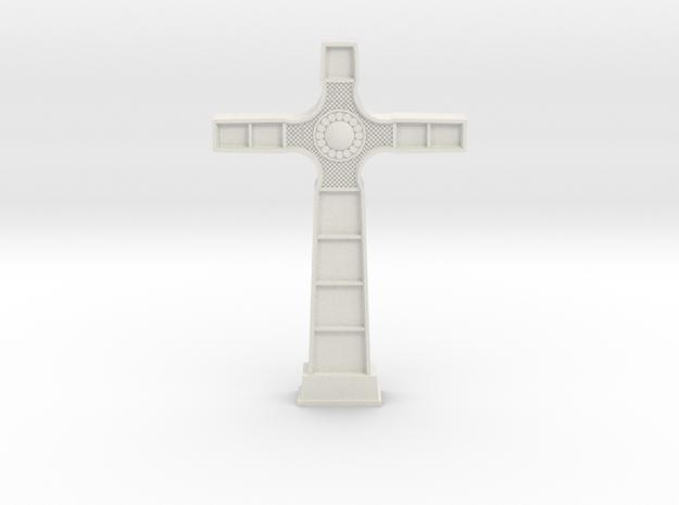18th Century Cross in White Natural Versatile Plastic