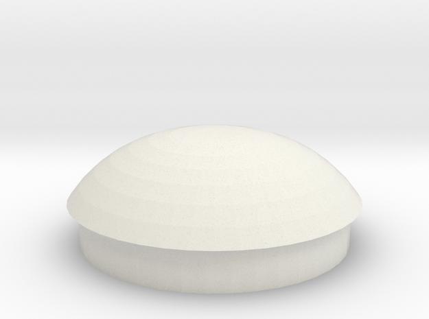 1.9 DUALLY CENTER CAP in White Natural Versatile Plastic