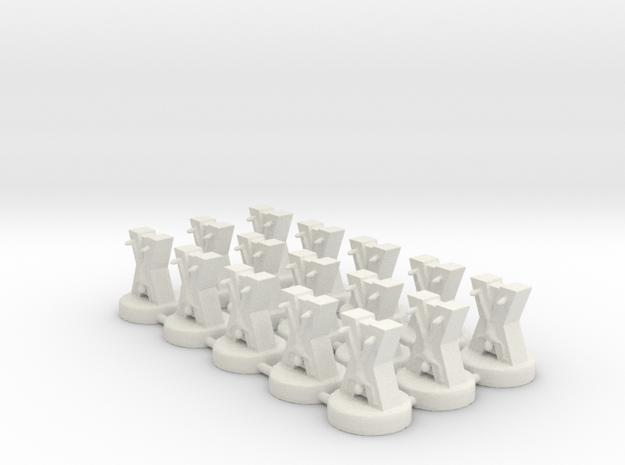 Game of Thrones Risk Pieces - Bolton in White Natural Versatile Plastic