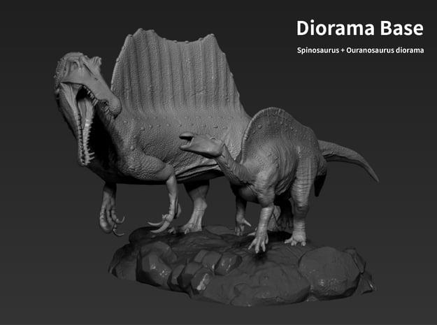 Base(Spinosaurus & Ouranosaurus Small.ver) in White Natural Versatile Plastic