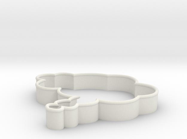 Speech Bubble Cookie Cutter4 in White Natural Versatile Plastic