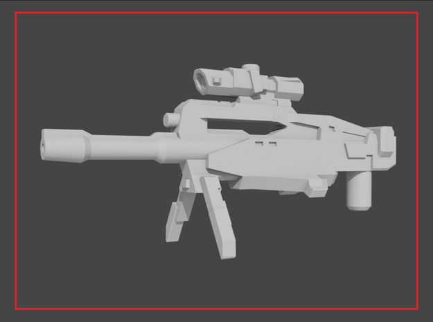 """DESIGNATOR-SV"" Transformers Weapon (5mm post) in White Natural Versatile Plastic"