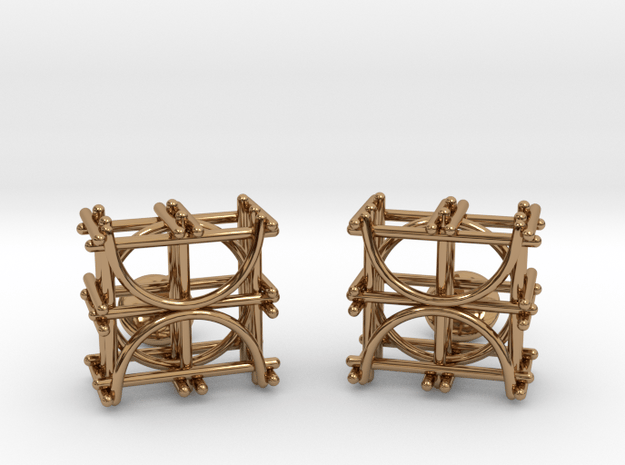 Architecture Cufflinks in Polished Brass