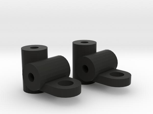 Steering Knuckles 1/24 RC Car in Black Natural Versatile Plastic