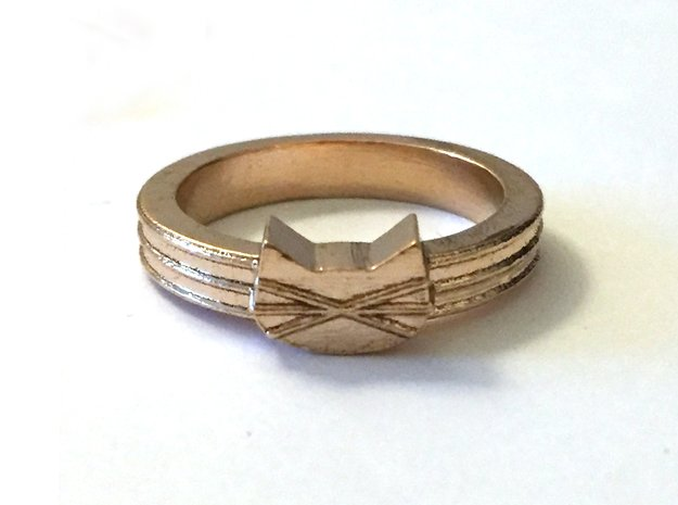Large Cat Face Ring in Natural Bronze: 7 / 54