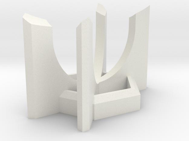 Short HEXA Lightsaber Display Stand in White Natural Versatile Plastic