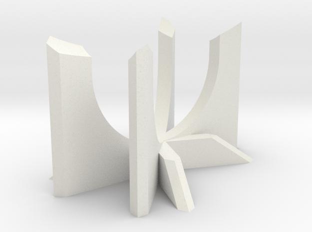 Short CROS Lightsaber Display Stand in White Natural Versatile Plastic