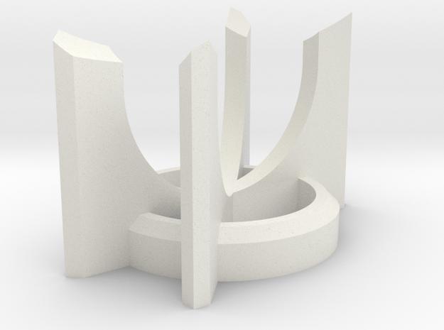 Short CIRC Lightsaber Display Stand in White Natural Versatile Plastic
