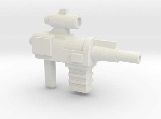 Constructo Blaster (5mm Peg) in White Natural Versatile Plastic