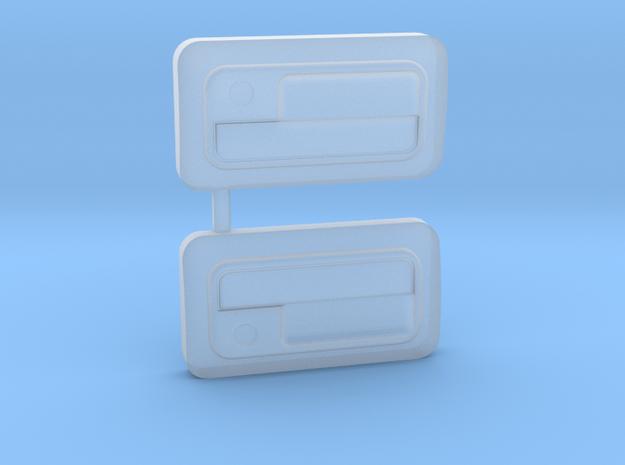 ABC Hobby EF8 CRX Door Handles in Smooth Fine Detail Plastic