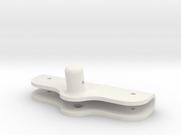 Axial SMT10 Grave Digger Flag Holder Mount in White Natural Versatile Plastic