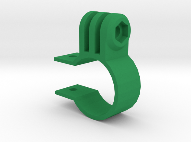 """GoPro Mount for 1"""" Scope Tube (Side Screw) in Green Processed Versatile Plastic"""