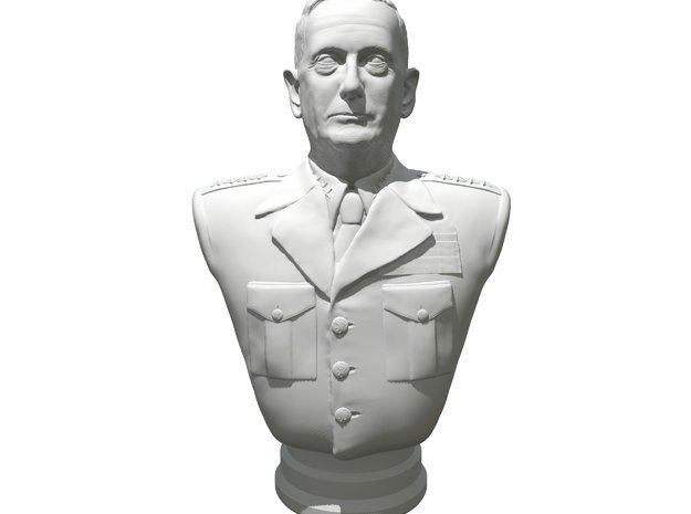General James Mattis in White Natural Versatile Plastic