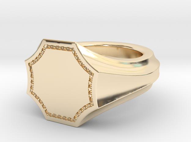 Seal Ring Stella in 14k Gold Plated Brass: 5.5 / 50.25