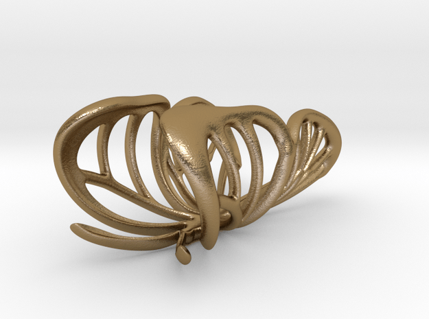"""The Parallelkeller """"Butterfly in Polished Gold Steel: 10.75 / 63.375"""