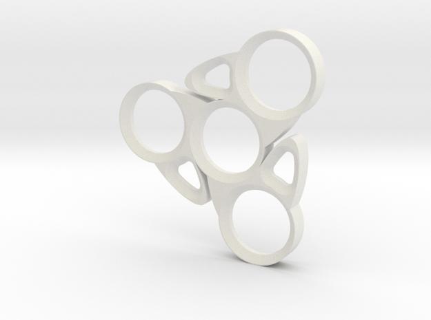 Blade Spinner in White Natural Versatile Plastic