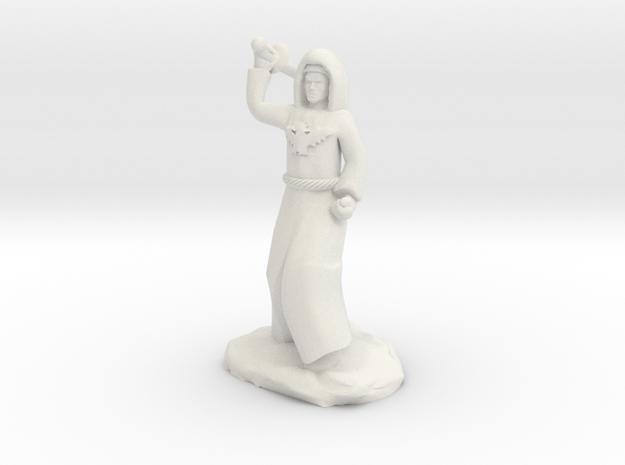 Dragon Cultist with Scimitar in White Natural Versatile Plastic
