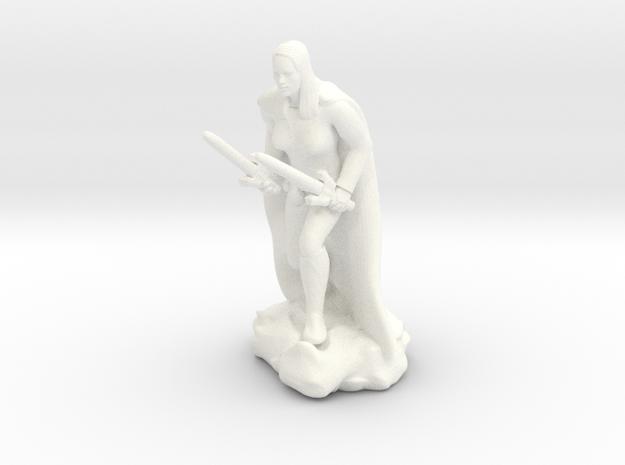 Female Human Rogue in White Processed Versatile Plastic