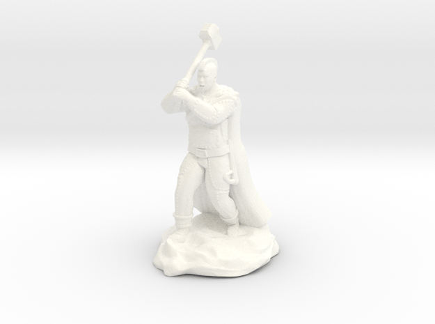 Mohawk Half Giant With Maul in White Processed Versatile Plastic