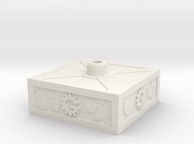Servo Base in White Natural Versatile Plastic