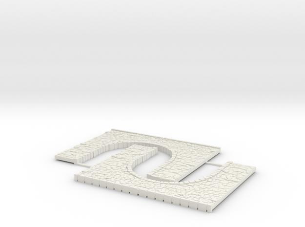 Arch1-85mm in White Natural Versatile Plastic