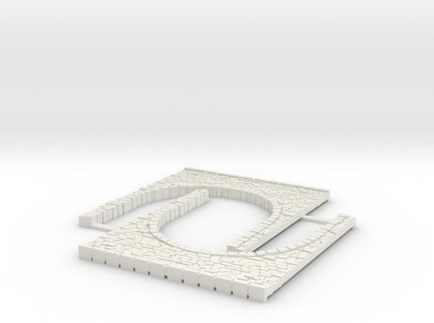 Arch1-60mm in White Natural Versatile Plastic