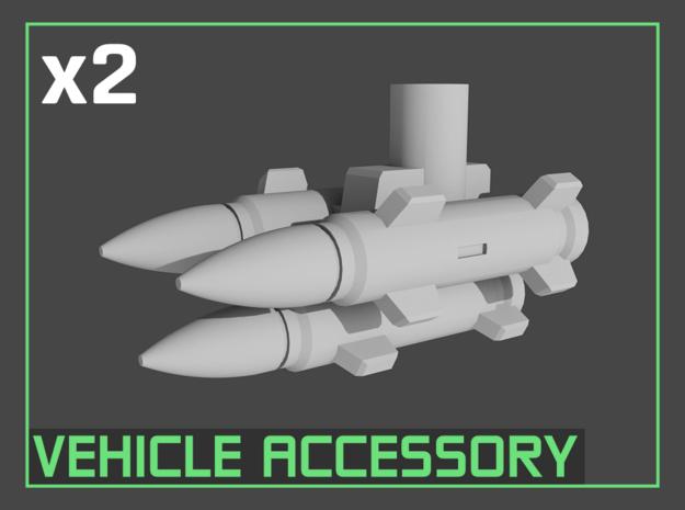Transformers Missile Rack (5mm post) in White Natural Versatile Plastic