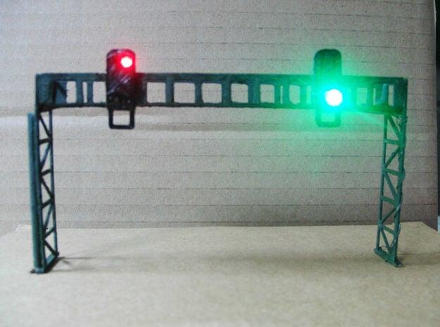 Signalbrücke mit 4 Signalschirmen Spur TT 1:120 Ba in White Natural Versatile Plastic