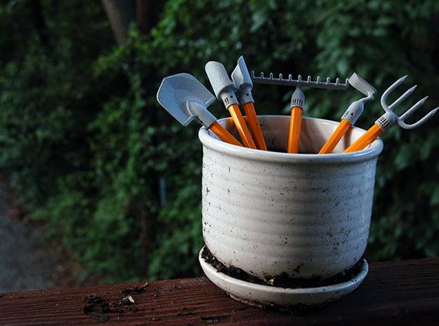 Desktop Garden Tools in Smooth Fine Detail Plastic