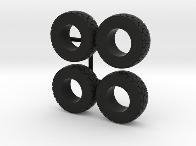 1/64 Wheel loader tires in Black Natural Versatile Plastic