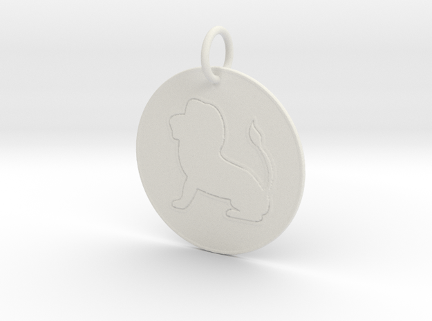 Leo Keychain in White Natural Versatile Plastic