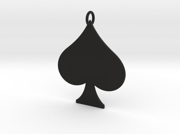 Spade Pendant in Black Natural Versatile Plastic