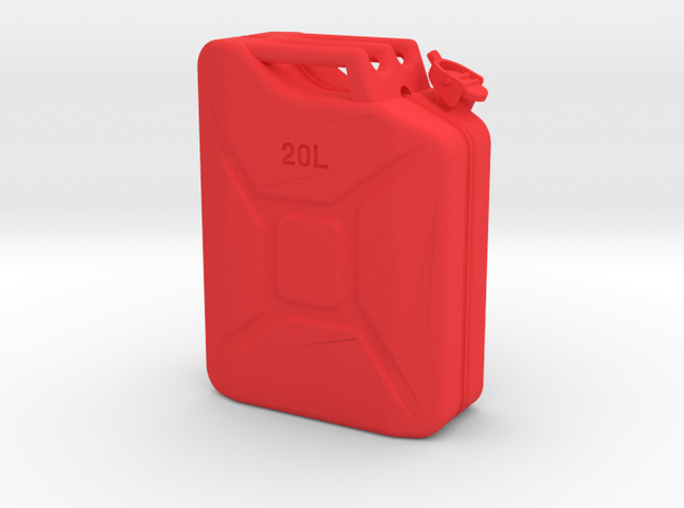 1/10th Scale Jerry Can / gas can in Red Processed Versatile Plastic