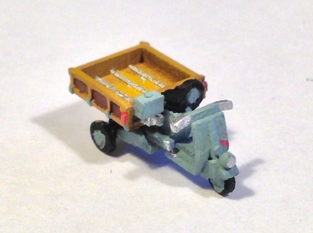 N Scale 1948 Piaggio Ape w/ Open Bed in Smooth Fine Detail Plastic