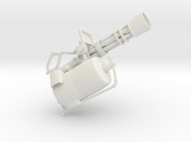 Minigun in White Natural Versatile Plastic