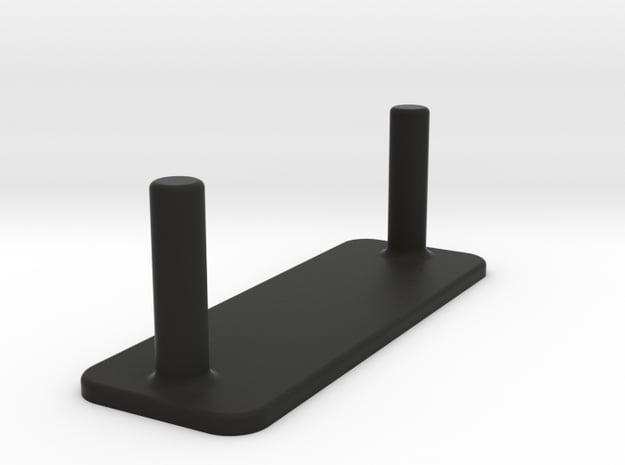 Lipo Pack Safety plug 4mm in Black Natural Versatile Plastic