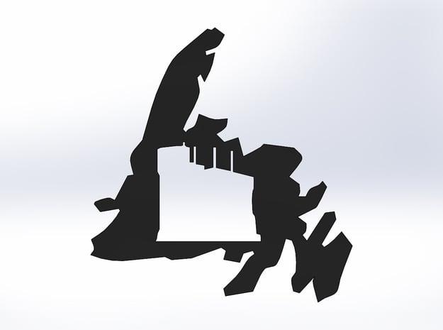 Newfoundland Signal Hill Cutout (S) in White Natural Versatile Plastic