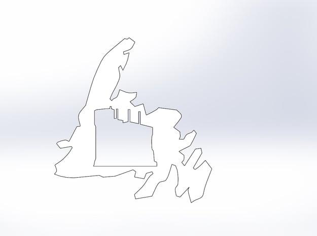 Newfoundland Signal Hill Cutout (L) in White Natural Versatile Plastic