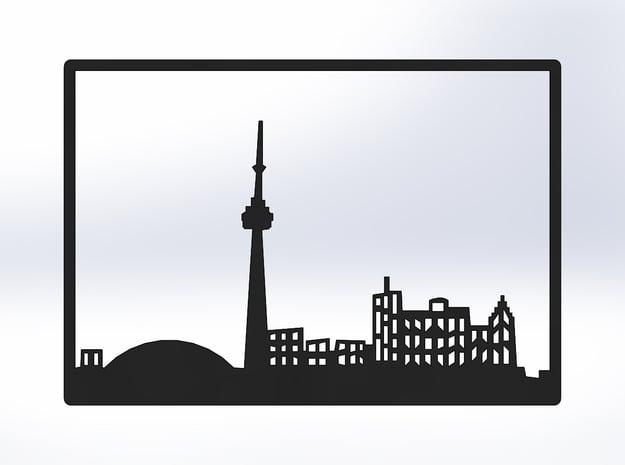 Toronto Skyline - 6 X 8.625 (M) in White Natural Versatile Plastic
