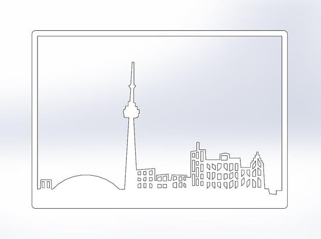 Toronto Skyline - 16 X 23 (XL) in White Natural Versatile Plastic