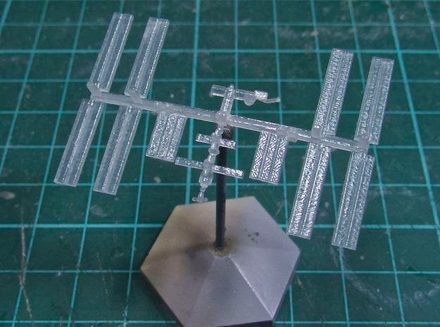 1/537 NASA International Space Station ISS in Smooth Fine Detail Plastic