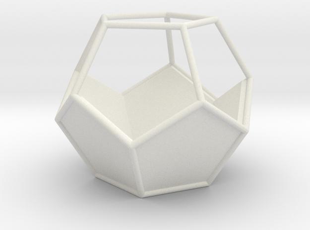 Geometric Terrarium in White Natural Versatile Plastic