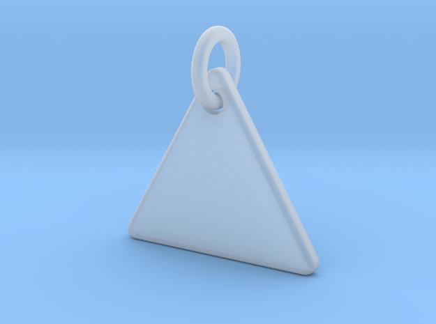 Triangle Nickel Size Pendant