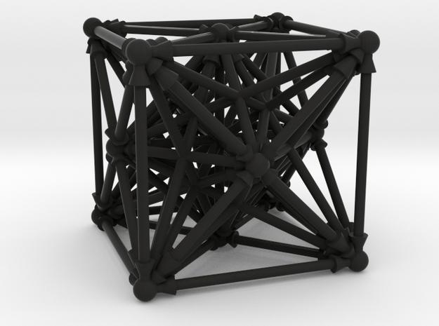 Octatetracubicle in Black Natural Versatile Plastic