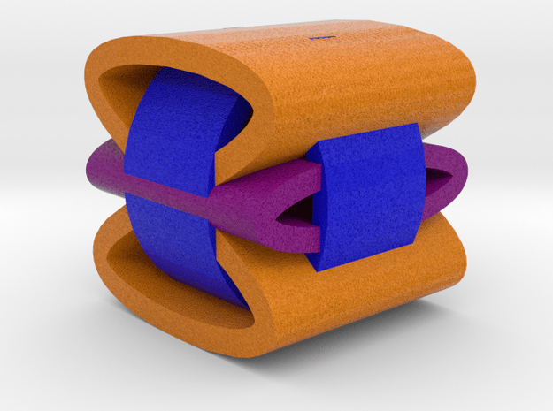Overlapping Rings in Full Color Sandstone
