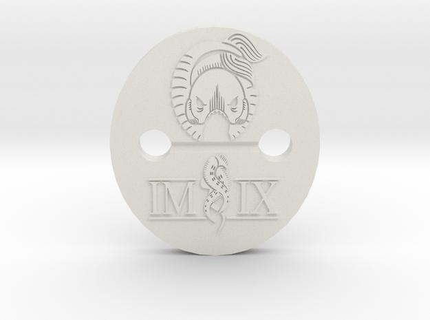 IMIX button1 in White Natural Versatile Plastic