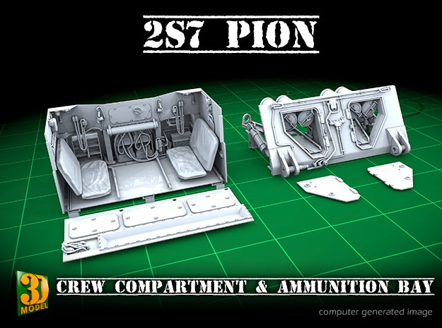 2S7 PION interior set 3 in Smooth Fine Detail Plastic