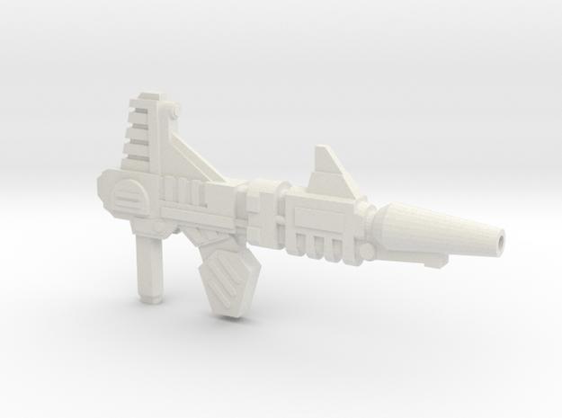 Blitz Blaster (5mm Peg) in White Natural Versatile Plastic