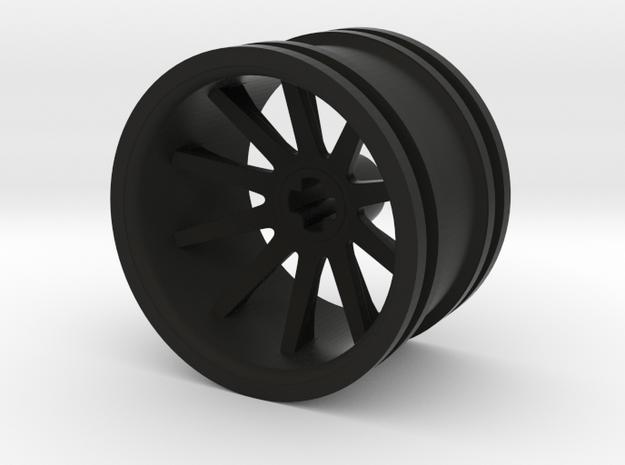 10 Spoke Wheel 30.4mm in Black Natural Versatile Plastic