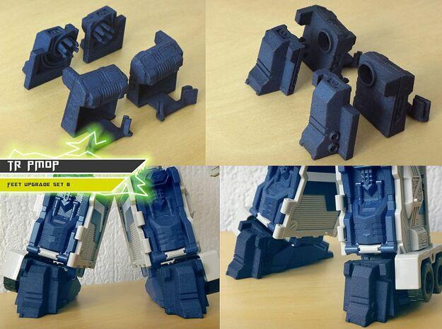 TR PMOP Feet Upgrade Set B Budget Version in White Processed Versatile Plastic